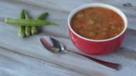 Traditional North African Okra soup video