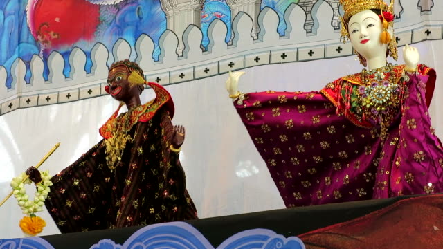 Traditional puppet show of Thailand video