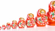 Traditional Russian Matryoshka video