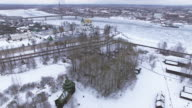 Traditional Russian village in winter video