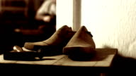 HD DOLLY: Traditional Shoemaker Workshop video