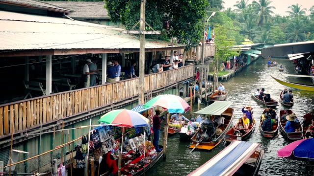 Traditional South East Asian River Market video