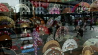 Traditional Spanish flamenco abanico fans shop video