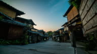 Traditional street time lapse in Kyoto 4K video