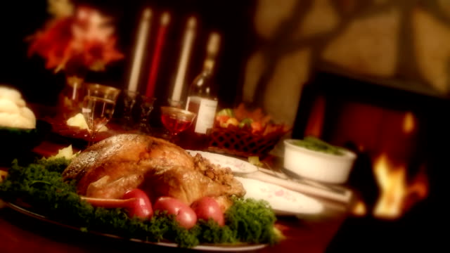 traditional thanksgiving holiday turkey dinner video