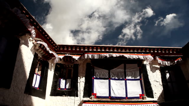 Traditional Tibetan House in Mountains video