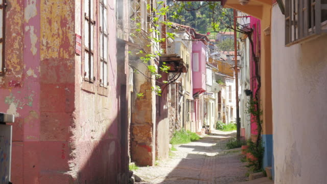 Traditional Turkish houses, travel destination, Ayvalik, Turkey video