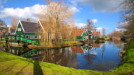 Traditional village in Zaanse Schans, Netherlands video