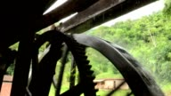 Traditional water mill. Antique water mill wheel video