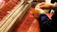 Traditional weaving video