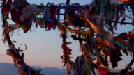 Traditional wish tree, tourist attraction, dreams come true, hopes for video