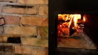 Traditional wood burning stove video