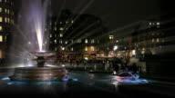 Trafalgar Square at night video