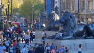 4K Trafalgar square in London, UK video