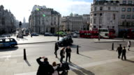 Trafalgar square roundabout in London video