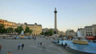 Trafalgar square time-lapse. Miniature scale video