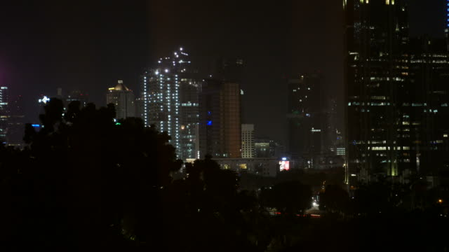 Traffic and cityscape in Jakarta video