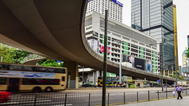 traffic at Hong kong.4K video