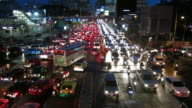 Traffic at night in Asia video