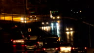 Traffic at Night on the highway video
