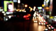 Traffic at night (Time lapse). video