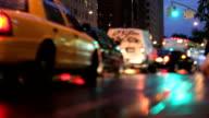 NYC Traffic at Night (Tilt Shift Lens) video