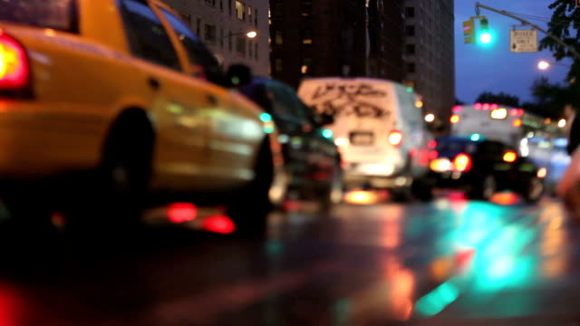 NYC Traffic at Night (Tilt Shift Lens) video
