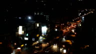 Traffic city view video