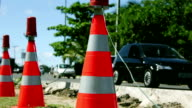 Traffic cone and cars video
