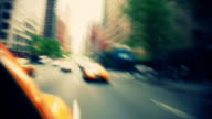 NYC Traffic In Taxi HD 1080 video