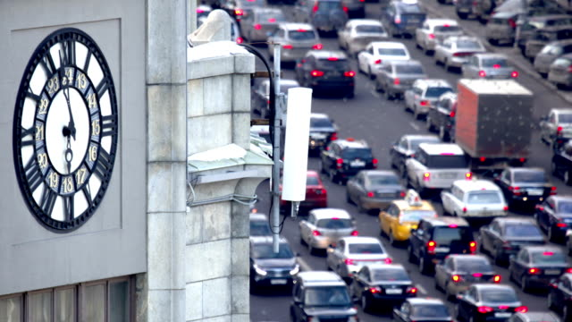 Traffic in big city video