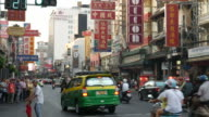 Traffic in China Town of Bangkok video