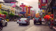 Traffic in Chinatown Bangkok video