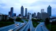 Traffic in downtown Atlanta video