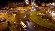 Traffic in downtown Barcelona video