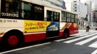 Traffic in Hiroshima, Japan video