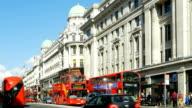 Traffic In London Regent Street video