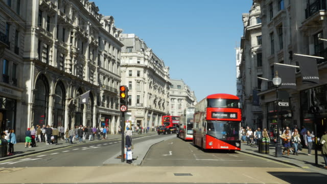 T/L Traffic In London Regent Street (UHD) video