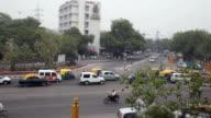 Traffic in New Delhi India video