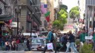 Traffic in San Francisco Financial Center video