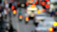 Traffic in Slow Motion, Blurred/Defocussed, Progressive HD video