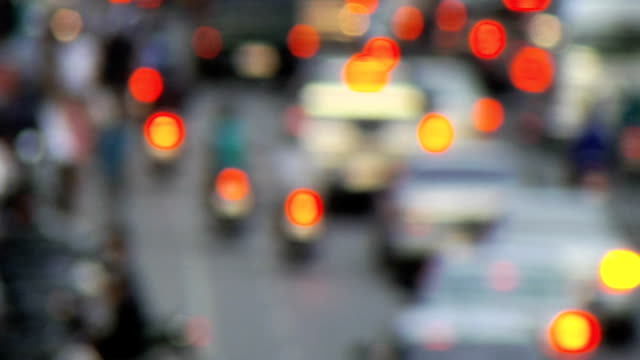 Traffic in Slow Motion, Blurred/Defocussed, Progressive HD video