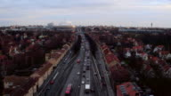 AERIAL: Traffic in Stockholm video