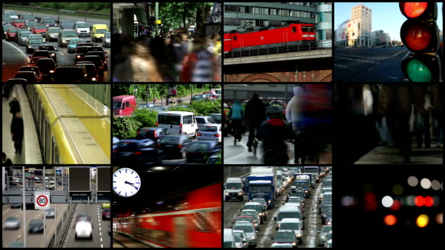 Traffic in the city -Montage video