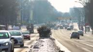 Traffic in winter video