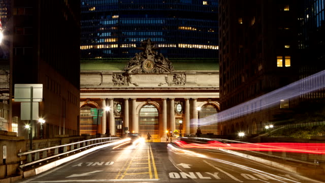 Traffic Intersection Time Lapse at Grand Central NYC video