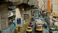 Traffic jam in Bangkok. video