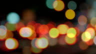Traffic jam in the city -blurred / Dusk. video