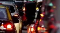 Traffic jam in the city -Dusk. edited video
