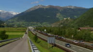 Traffic Jam on Brennerautobahn in South Tyrol video